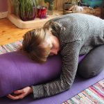 Melissa in a yin yoga pose